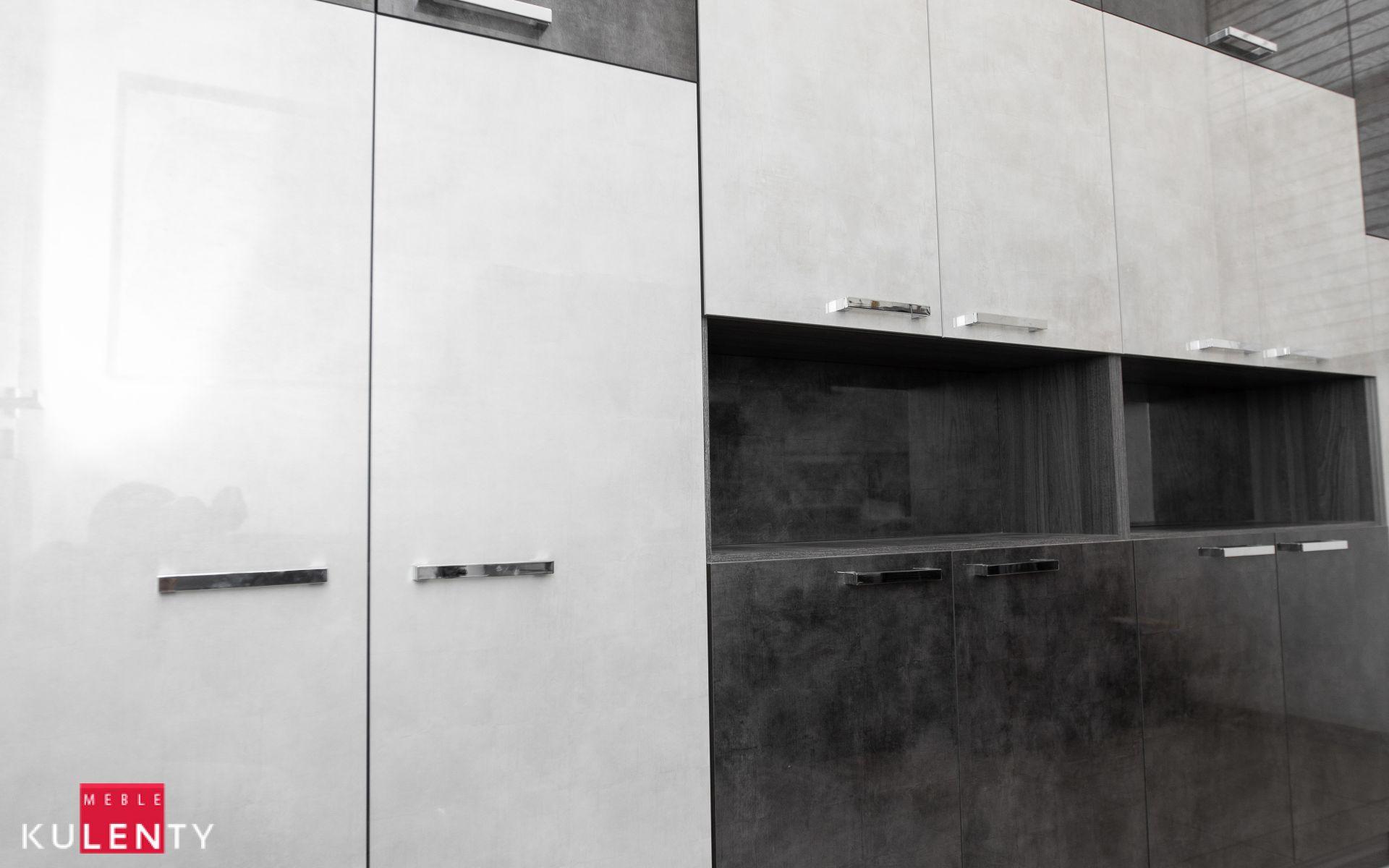 Nowoczesne szafki w szarym kolorze warszawa