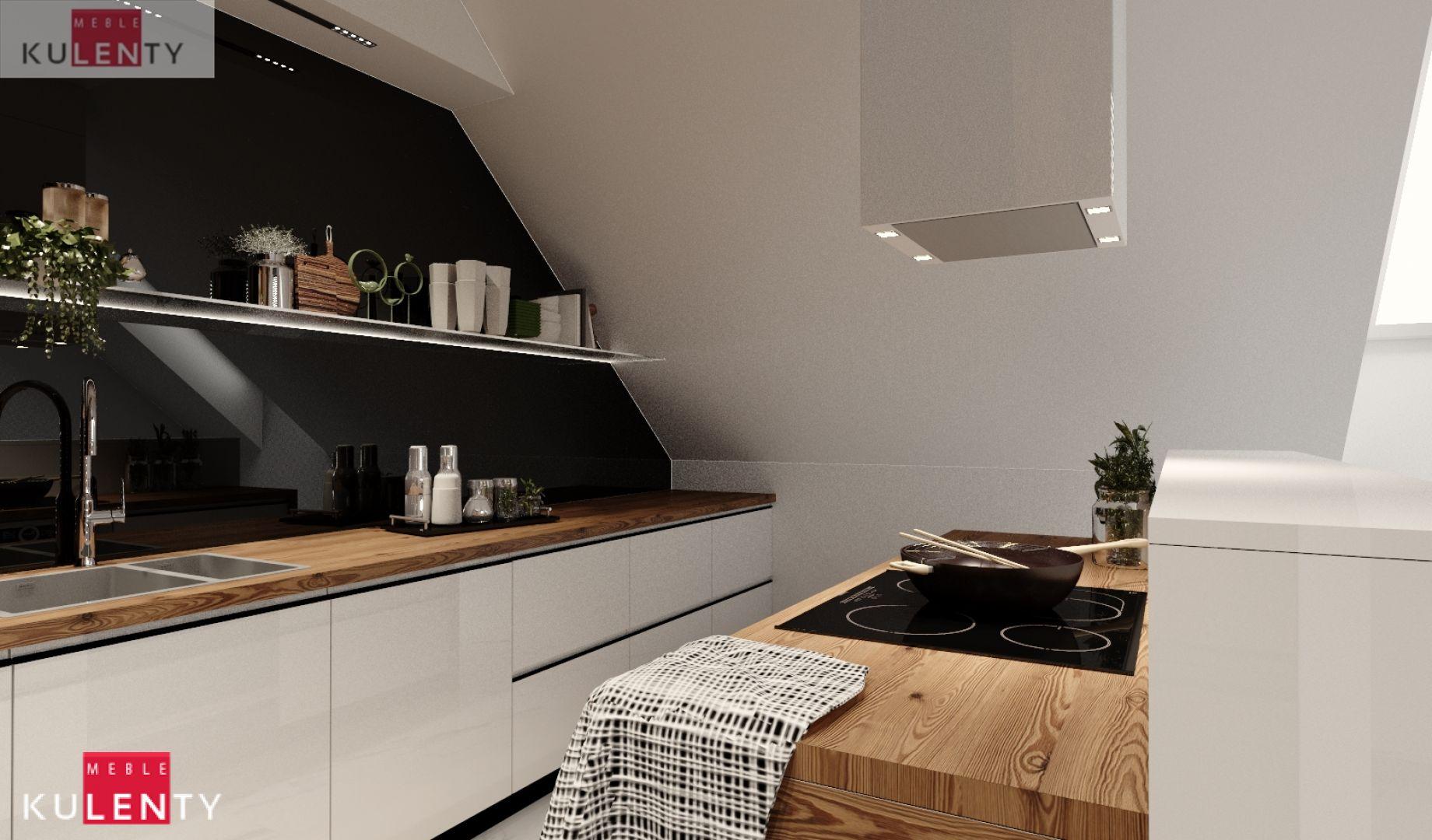 Biała kuchnia projekt CA49